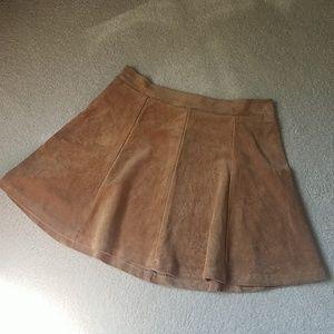 Dresses & Skirts - Camel Suede Skater Skirt